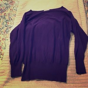 Tops - Purple 3/4 sleeve sweater